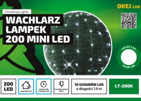 Wachlarz lampek mini LED - 10 wiązek po 20 diod