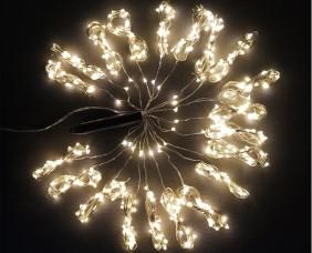 Wachlarz lampek mini LED, 20 wiązek po 25 diod - kolor ciepły biały