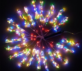 Wachlarz lampek mini LED, 20 wiązek po 25 diod - multikolor