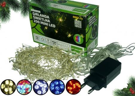 Zewnętrzna girlanda mini LED, różne kolory