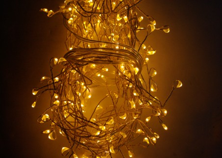 Girlanda mini LED na drucie - kolor ciepły biały
