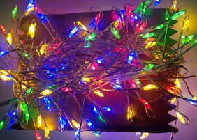 Girlanda mini LED na drucie - multikolor