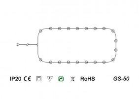 Tradycyjne lampki żarówkowe GS-50 - schemat techniczny