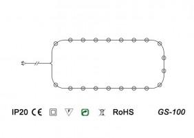 Światełka choinkowe GS-100 - schemat techniczny