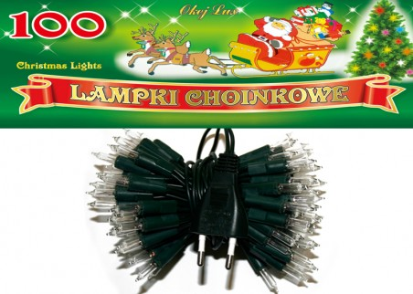 Tradycyjne lampki choinkowe - 100 żarówek