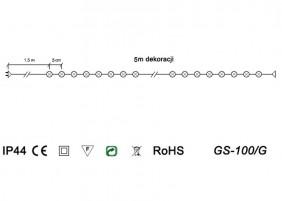 Lampki żarówkowe z dodatkowym gniazdem - schemat techniczny