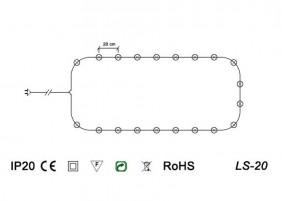 Świeczki wewnętrzne LS-20 - schemat techniczny