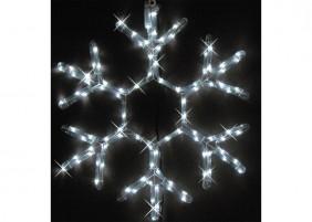 ... i 3 śnieżynki z węża świetlnego z efektem błysku. Całość świeci w kolorze zimnym białym