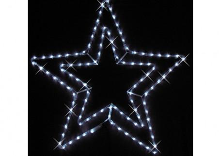 Zestaw tworzy 5 połączonych ze sobą gwiazd z węża świetlnego, w kolorze zimnym białym