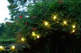 Światełka ogrodowe z serii Party Line - kolor ciepły biały