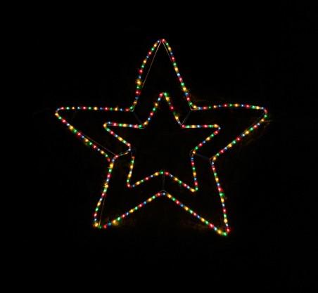 Gwiazda z węża świetlnego WS6FG - zewnętrzna figura - multikolor
