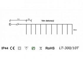 Sople zewnętrzne LED LT-300/10T - schemat techniczny