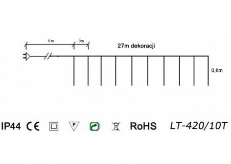 Sople LED LT-420/10T - schemat techniczny