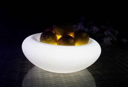 Przenośna, indukcyjna lampa dekoracyjna LED BelGiardino - misa na owoce. Różne funkcje i kolory