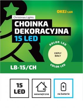 Choinka LED z ozdobami w środku, 2 kolory do wyboru.