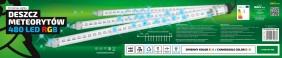 Zewnętrzne sople LED - 10 tub po 60cm z efektem deszcz meteorytów. Sople RGB