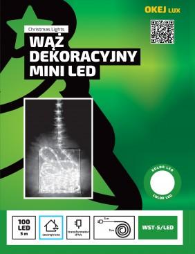 Wąż świetlny mini LED, cienki wąż LED, 3 kolory