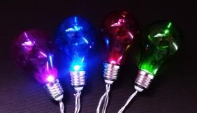 Światełka ogrodowe - imitacja żarówki - multikolor