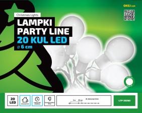 Lampki ogrodowe - imitacja żarówki z timerem