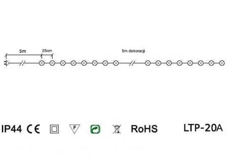Światełka ogrodowe - abażurki - schemat techniczny