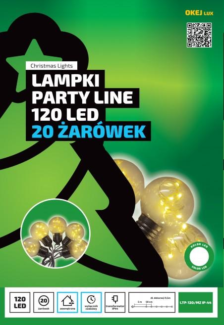 Lampki ogrodowe LED, 6 diod w każdej żarówce, 20 żarówek. Oświetlenie OKEJ LUX