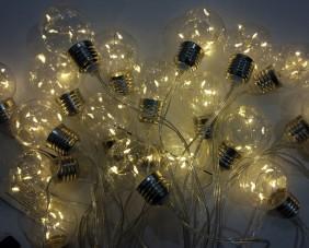 Lampki ogrodowe LED, 6 diod w każdej żarówce, 20 żarówek ciepły biały