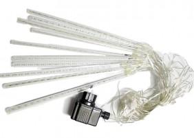 Wewnętrzne sople LED z efektem deszcz meteorytów, kolor zimny biały