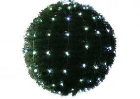 Wachlarz lampek mini LED, 20 wiązek po 25 diod, różne kolory