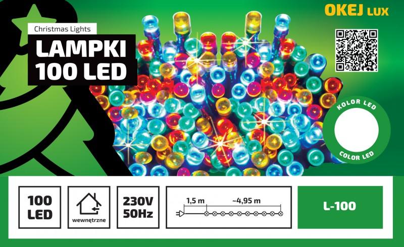 Lampki choinkowe Okej Lux - 100 diod LED w różnych kolorach