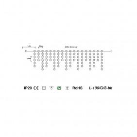 Sople choinkowe L-100-G/Spk - schemat techniczny