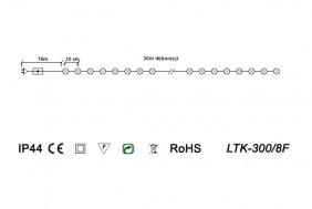 Lampki świąteczne perełki, 8 funkcji - schemat techniczny