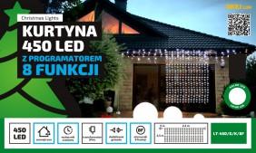 Kurtyna świetlna LED  2,5x2,2m