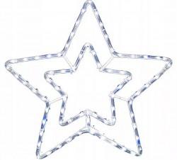Figura z węża świetlnego LED z efektem błysku - gwiazda