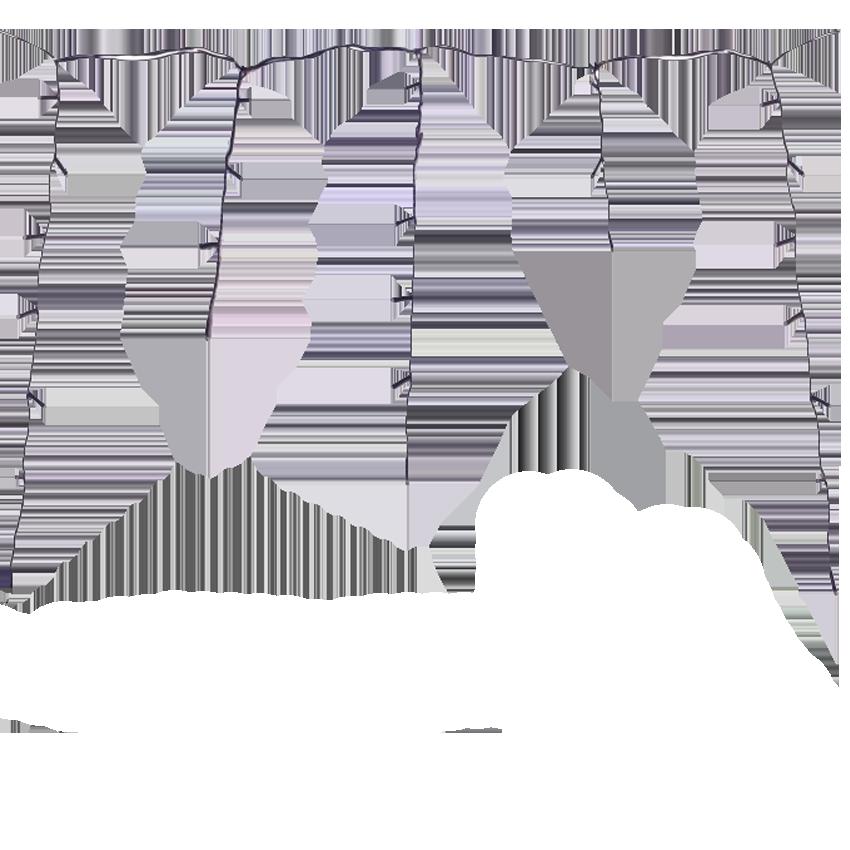 Sople i kurtyny LED