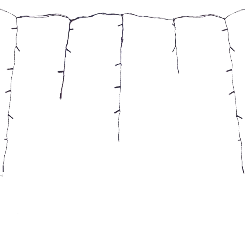 Wewnętrzne Sople i kurtyny LED